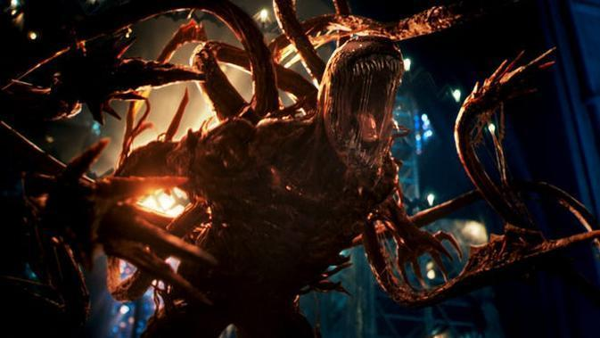 Adegan dalam film Venom: Let There Be Carnage. (Sony Pictures)