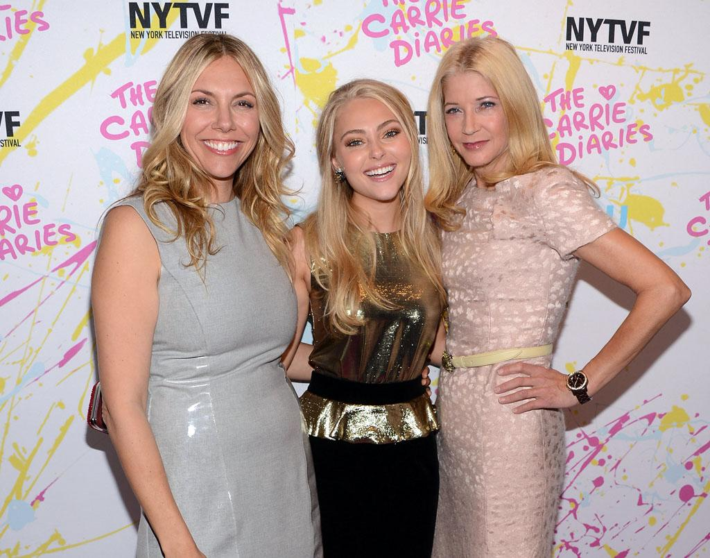"Executive Producer Amy B. Harris, actress AnnaSophia Robb and Author/Executive Producer Candace Bushnell attend ""The Carrie Diaries"" Premiere during the 2012 New York Television Film Festival at SVA Theater on October 22, 2012 in New York City."