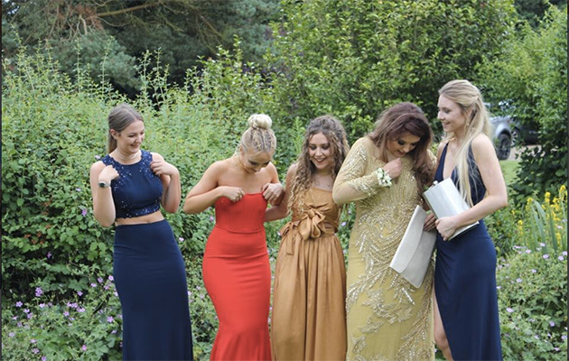 Eleanor says she can't believe she got away with bringing the flask to her formal. Photo: Twitter/@eleanorclrke