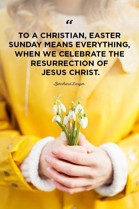 """<p>""""To a Christian, Easter Sunday means everything, when we celebrate the resurrection of Jesus Christ.""""</p>"""