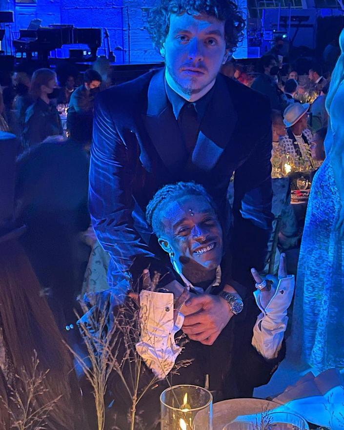 <p>Lil Nas X was the night's Instagram MVP, capturing shots like this of Jack Harlow and Lil Uzi Vert. </p>