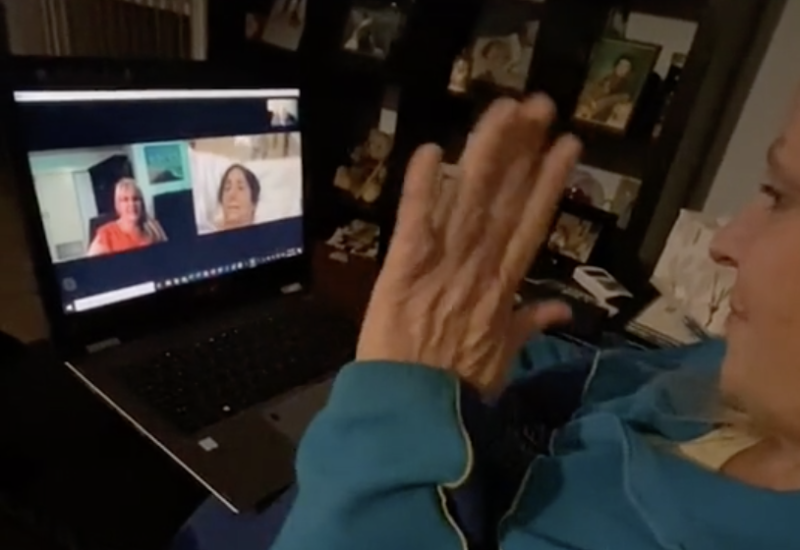 The original video was a success and Barbara was able to say goodbye to her mum. Source: TikTok/baberah