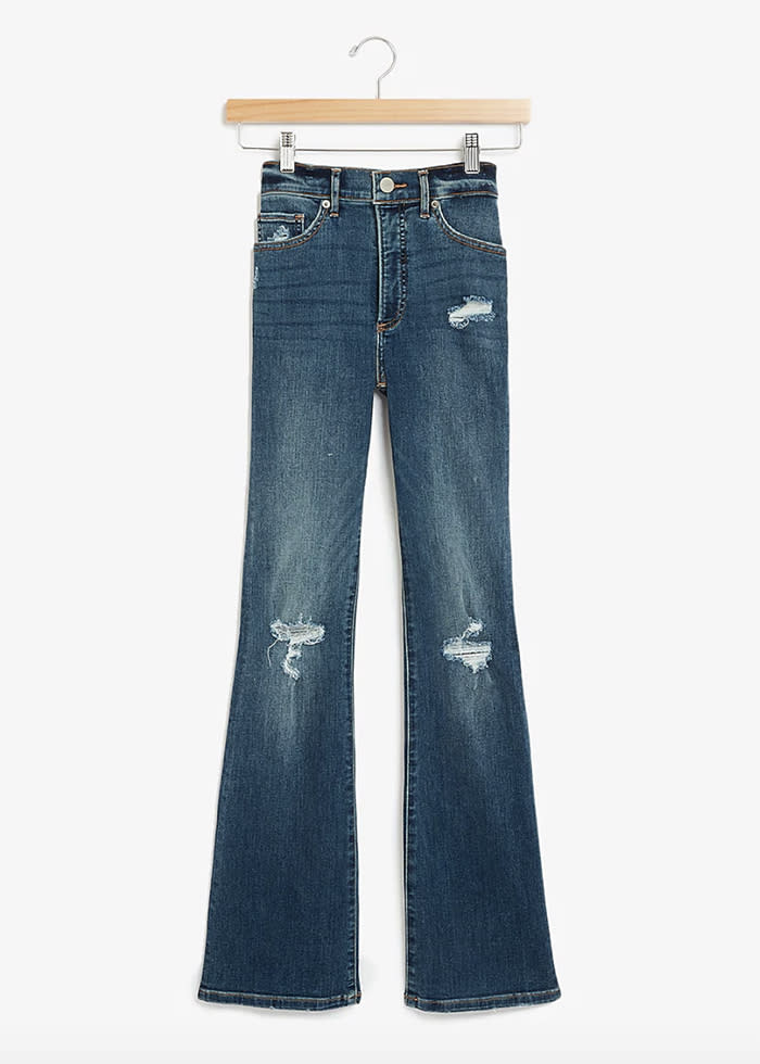 express jeans, bootcut, ripped