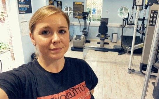 Sarah Morrison, 29, the owner of the Little Box Gym in Chorlton, Manchester
