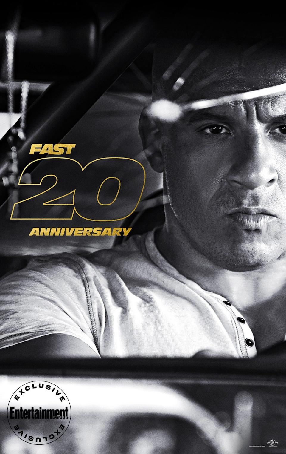 """<p>Diesel is just as surprised as anyone about <em>Fast</em>'s longevity<em>,</em> considering he walked away after <em>The Fast and the Furious</em>, thinking a sequel would hurt the legacy of the original. But he returned as Dom in the final scene of <em>The Fast and the Furious: Tokyo Drift</em>, and has never looked back. """"To be the vessel of a character to this degree for decades, what you end up finding is that you're pulling from your real life - it becomes that personal,"""" <a href=""""https://ew.com/movies/f9-vin-diesel-john-cena-digital-cover/"""" rel=""""nofollow noopener"""" target=""""_blank"""" data-ylk=""""slk:he recently told EW"""" class=""""link rapid-noclick-resp"""">he recently told EW</a>. """"It's like when Paul used to say how much he loved being called Brian. That means for so long he's played this character, he's adopted part of the character and the character's adopted part of him. And maybe in this <em>Fast</em> universe, as complicated as it is, life is a little simpler.""""</p>"""