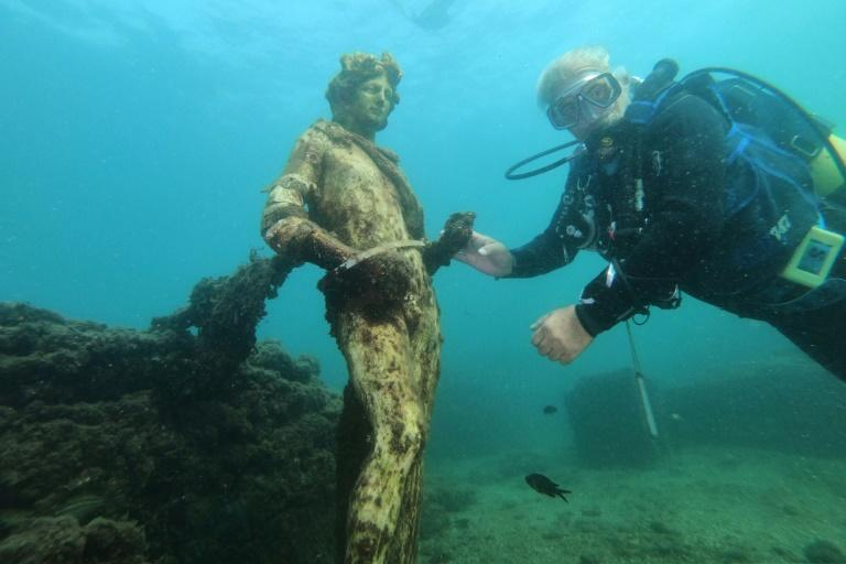 The underwater site has been a protected marine area since 2002 and divers must be accompanied by a registered guide