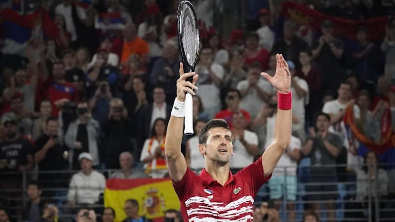 Novak Djokovic has inspired Serbia to victory in the inaugural ATP Cup in Sydney