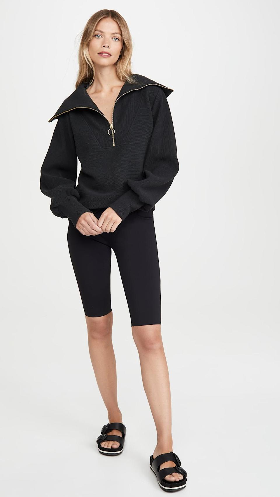 <p>You won't want to take off this classic <span>Varley Vine Pullover</span> ($158).</p>