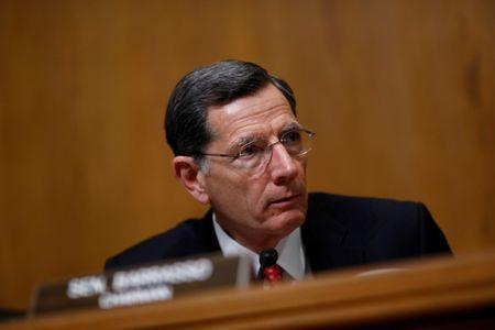 FILE PHOTO: U.S. Sen, John Barrasso (R-WY) speaks during a U.S. Senate Committee on Environment and Public Works meeting on Capitol Hill in Washington, U.S. February 7, 2018. REUTERS/Eric Thayer