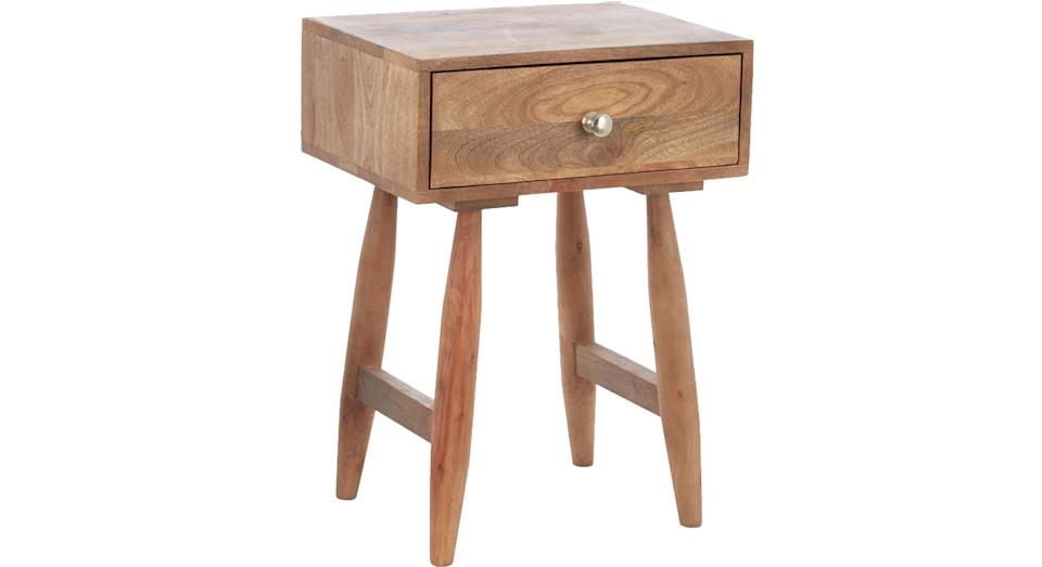 Brown Wooden Bedside Table
