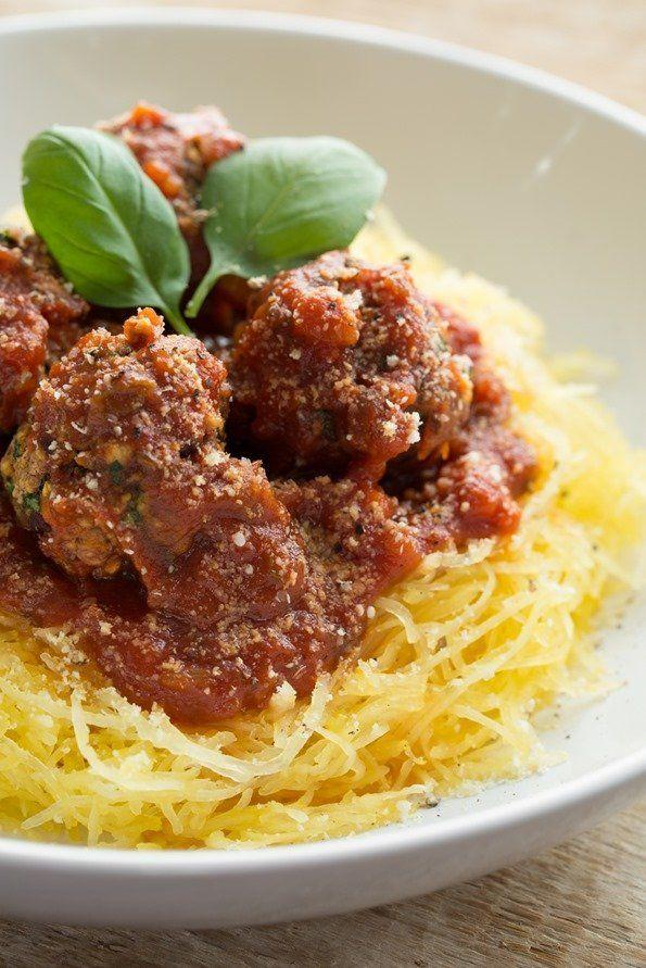 "<strong>Get the&nbsp;<a href=""http://ohsheglows.com/2013/10/30/italian-bean-balls-spaghetti-squash-noodles/"">Italian Bean Balls and Spaghetti Squash Noodles recipe</a>&nbsp;from Oh She Glows</strong>"