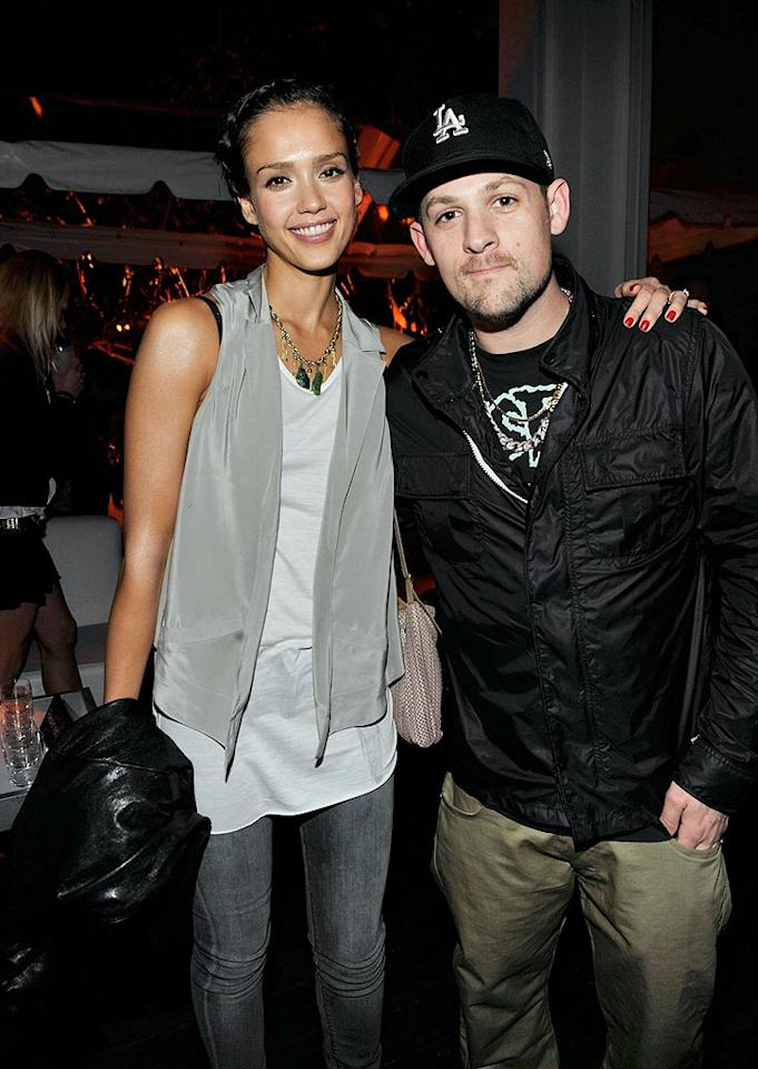 "Who knew ""Valentine's Day"" star Jessica Alba and Good Charlotte bassist Benji Madden were pals? Kevin Mazur/<a href=""http://www.wireimage.com"" target=""new"">WireImage.com</a> - February 6, 2010"