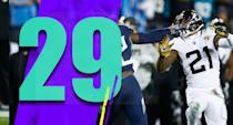<p>Watching the Jaguars barely try to tackle Derrick Henry, combined with the Colts winning at the Texans on Sunday … Jacksonville shutting out Indianapolis in Week 13 is just baffling. (A.J. Bouye) </p>