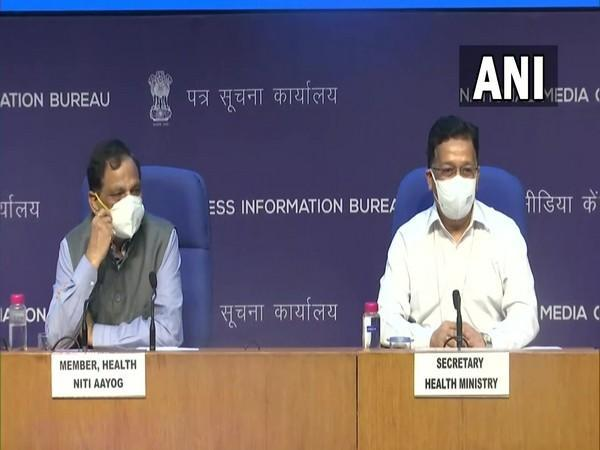 Visual of the press briefing by the Health Ministry (Photo/ANI)