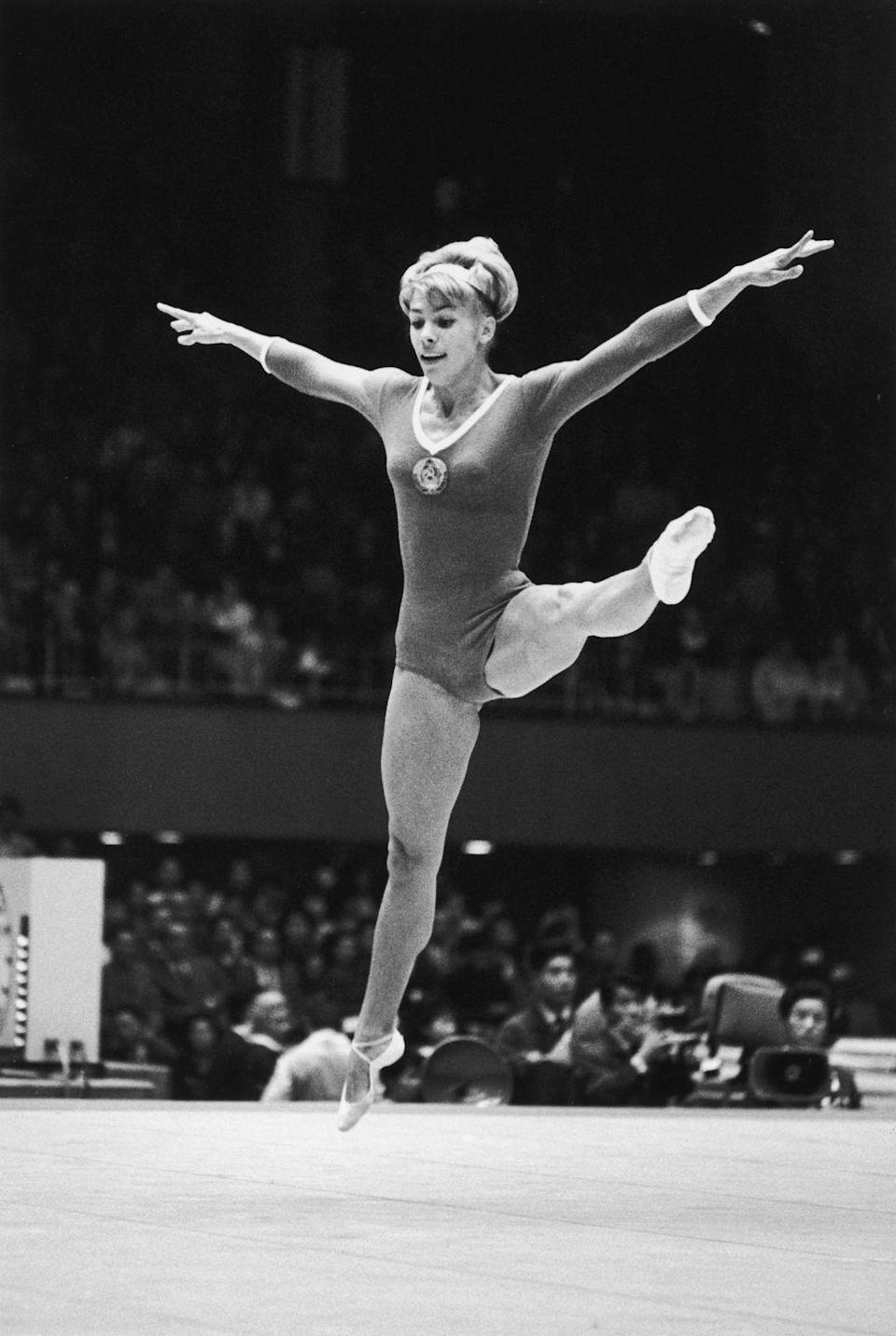 <p>Two-time all-around gold medalist Larisa Latynina took home silver during the Toyko games. </p>