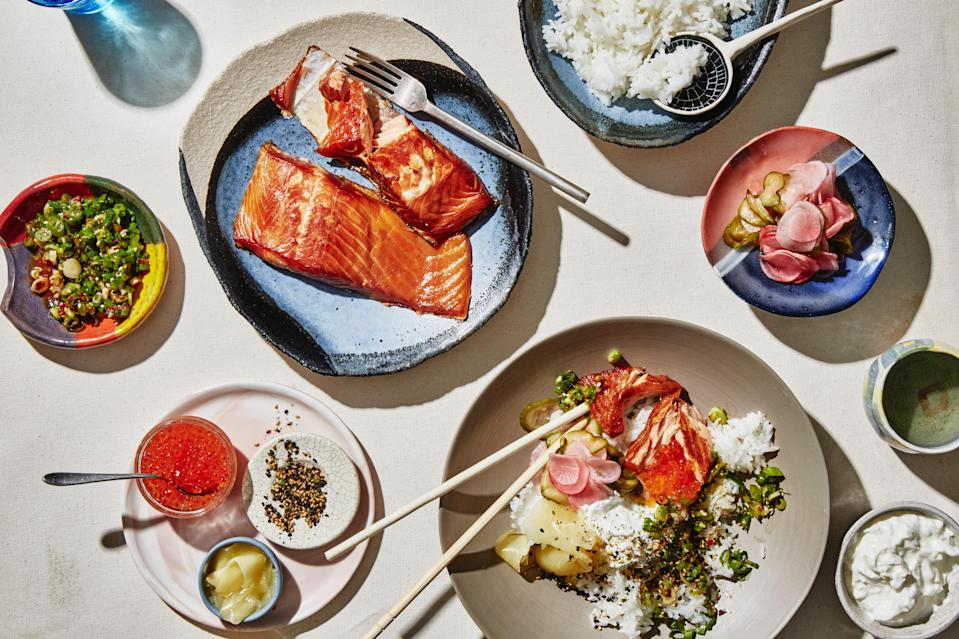 """<a href=""""https://www.bonappetit.com/recipe/breakfast-rice-bowls-with-smoked-fish?mbid=synd_yahoo_rss"""" rel=""""nofollow noopener"""" target=""""_blank"""" data-ylk=""""slk:See recipe."""" class=""""link rapid-noclick-resp"""">See recipe.</a>"""