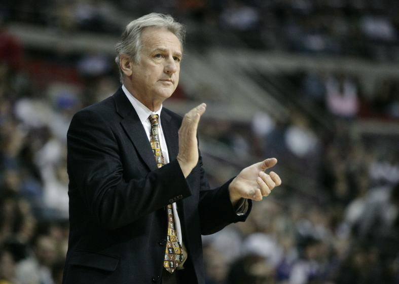 Sacramento Kings coach Paul Westphal in the second half of an NBA basketball game against the Detroit Pistons Wednesday, Feb. 10, 2010, in Auburn Hills, Mich. (AP Photo/Duane Burleson)