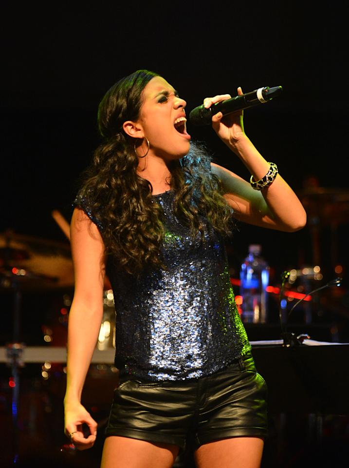 "Adriana Louise at a special live performance event celebrating the Top 12 artists of ""The Voice"" on November 8, 2012 at the House of Blues in Hollywood, CA."