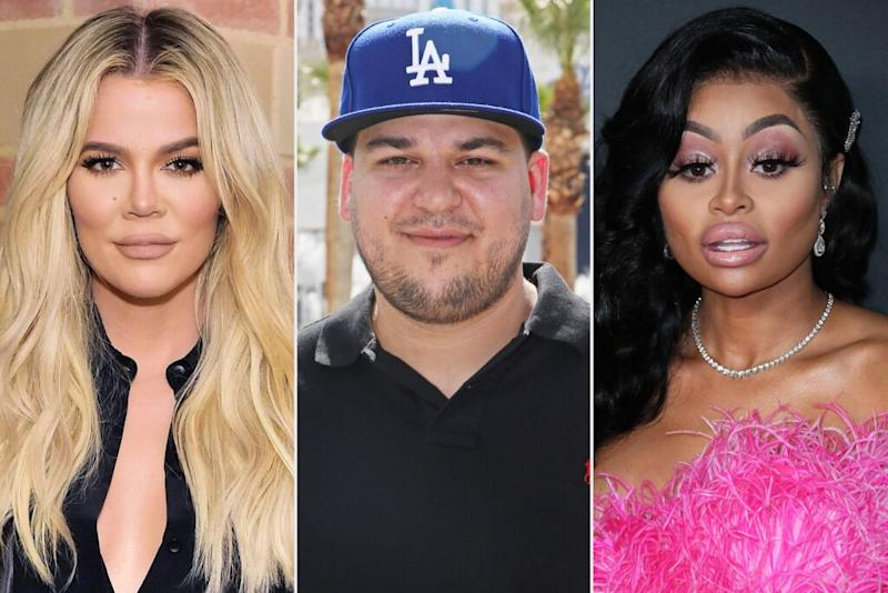 From L to R: Khloé Kardashian, Rob Kardashian and Blac Chyna | Stefanie Keenan/Getty; Gabe Ginsberg/Getty; John Photography/Shutterstock