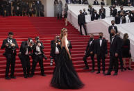 Diane Kruger poses for photographers upon arrival at the premiere of the film 'Everything Went Fine' at the 74th international film festival, Cannes, southern France, Wednesday, July 7, 2021. (AP Photo/Brynn Anderson)