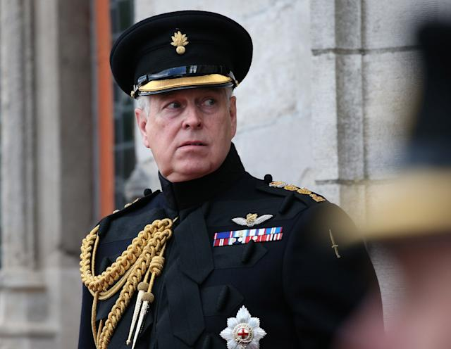 The Duke of York, pictured at a memorial in Bruges, has been asked to come forward to testify. (PA Images)