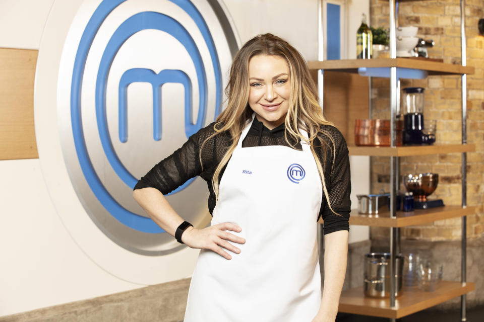 Former EastEnders star Rita Simons will be hoping to impress with her culinary skills (BBC)