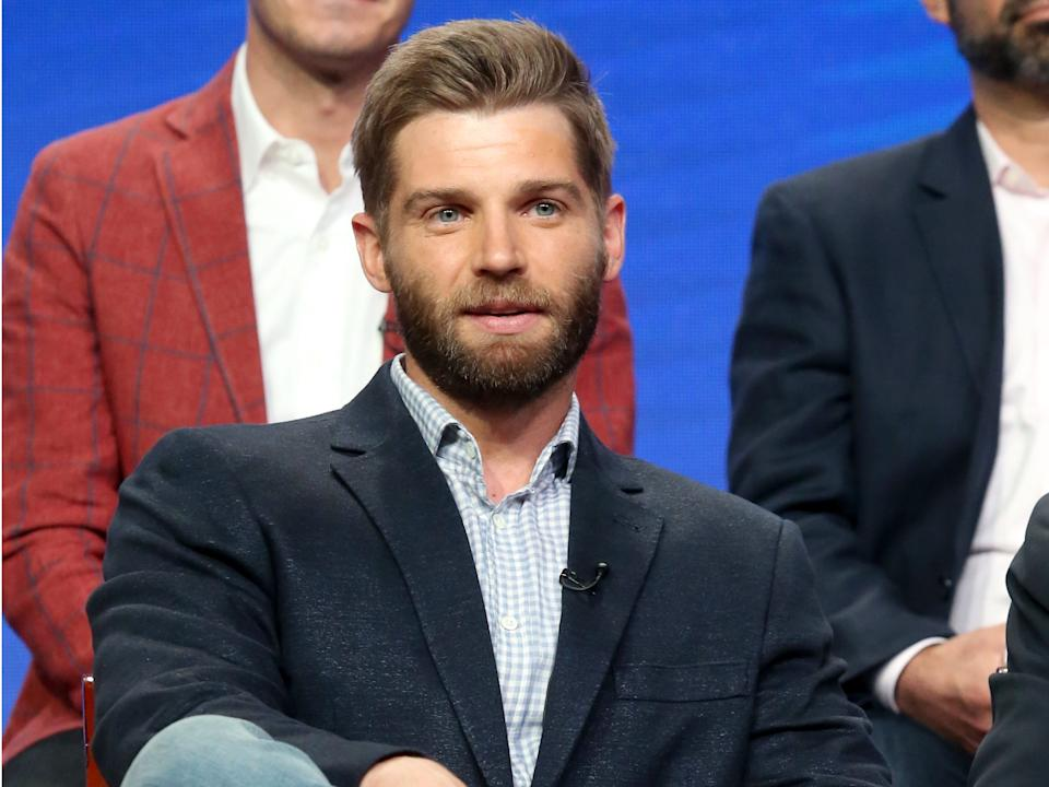 "Mike Vogel speaks onstage during the NBCUniversal portion of the 2017 Summer Television Critics Association Press Tour. <p class=""copyright"">Frederick M. Brown/Getty Images</p>"