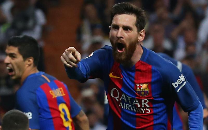 Lionel Messi -Real Madrid 2 Barcelona 3: Lionel Messi silences Santiago Bernabeu with injury-time winner in El Clasico - Credit: REUTERS