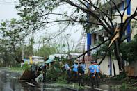 Typhoon Kammuri has lashed the Philippines with fierce winds and heavy rain