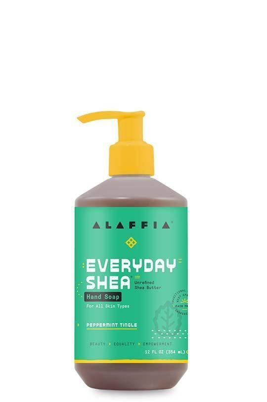 "<p><strong>Alaffia</strong></p><p>alaffia.com</p><p><strong>$5.99</strong></p><p><a href=""https://www.alaffia.com/products/shea-hand-soap-peppermint-tingle"" rel=""nofollow noopener"" target=""_blank"" data-ylk=""slk:Shop Now"" class=""link rapid-noclick-resp"">Shop Now</a></p><p>You know a hand soap's going to be good when it's called Peppermint Tingle. An experience as well as a cleanser, this minty formula is made completely without sulfates, making it less likely to dry out your precious hands. </p>"