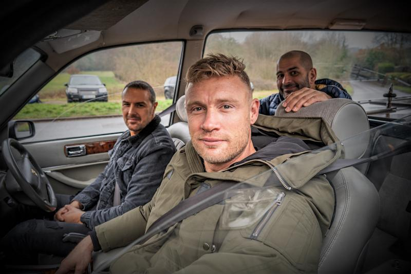 Paddy McGuinness, Freddie Flintoff and Chris Harris are the new presenters of 'Top Gear' (Credit: BBC)