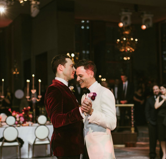 Jim Parsons shared some photos from his May 13 wedding to Todd Spiewak, including their first dance. (Photo: Amber Gress Photographer/Jim Parsons via Instagram)