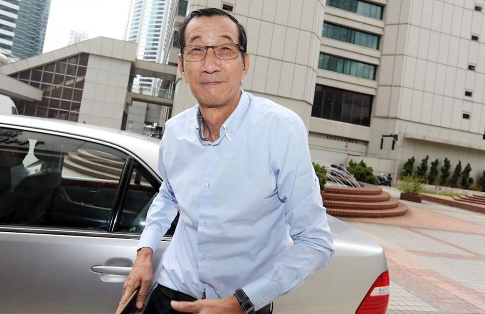 Ip Yut-kin, then publisher of Apple Daily newspaper, during an appearance at the High Court in Hong Kong's Admiralty on September 16, 2015. Photo: SCMP