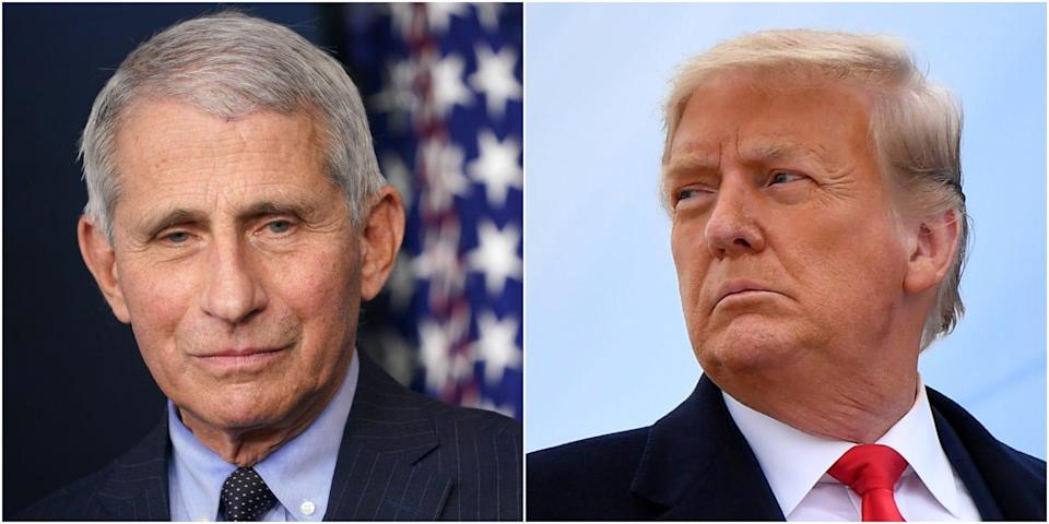 anthony fauci donald trump wide