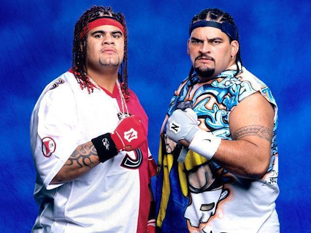 Rosey (right) was a cousin of Umaga (left) who died in 2009 (Getty)