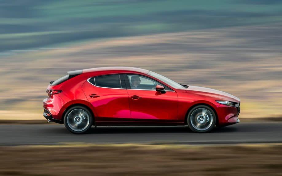 Mazda3 action - side - David F Smith