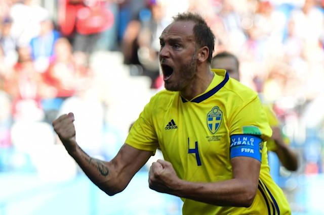 Captain Andreas Granqvist scored the crucial penalty for Sweden (AFP Photo/Martin BERNETTI)