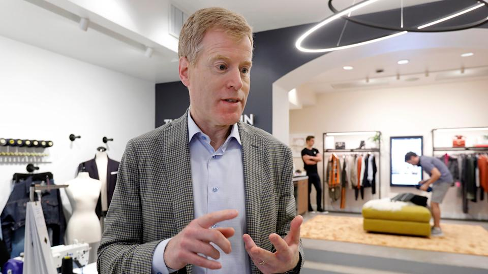 Mandatory Credit: Photo by Richard Drew/AP/Shutterstock (10402296e)Nordstrom Co-President & CEO Erik Nordstrom is interviewed in the Nordstrom Local store, in New York's Upper East Side, .