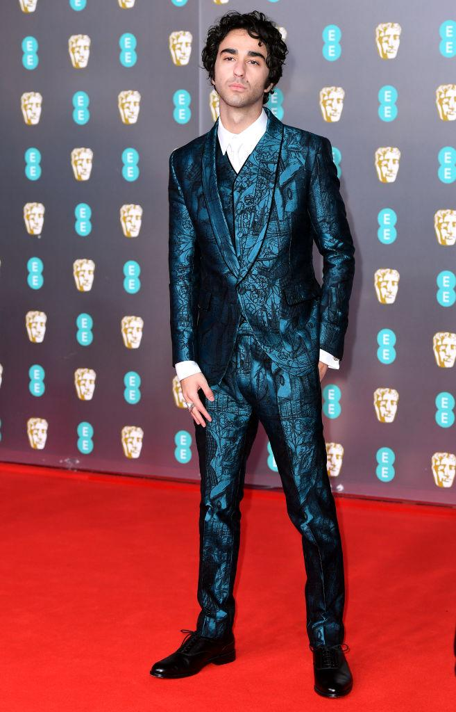 Alex Wolff made a bold suit choice, too. [Photo Getty]