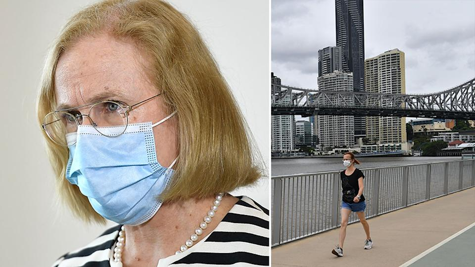 Queensland Health confirms one case connected to hotel cleaner who was confirmed to have the UK variant of Covid-19. Source: AAP