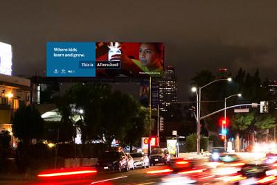 New nationwide digital billboard campaign from city leaders, education advocates lights up a discussion on after school learning.