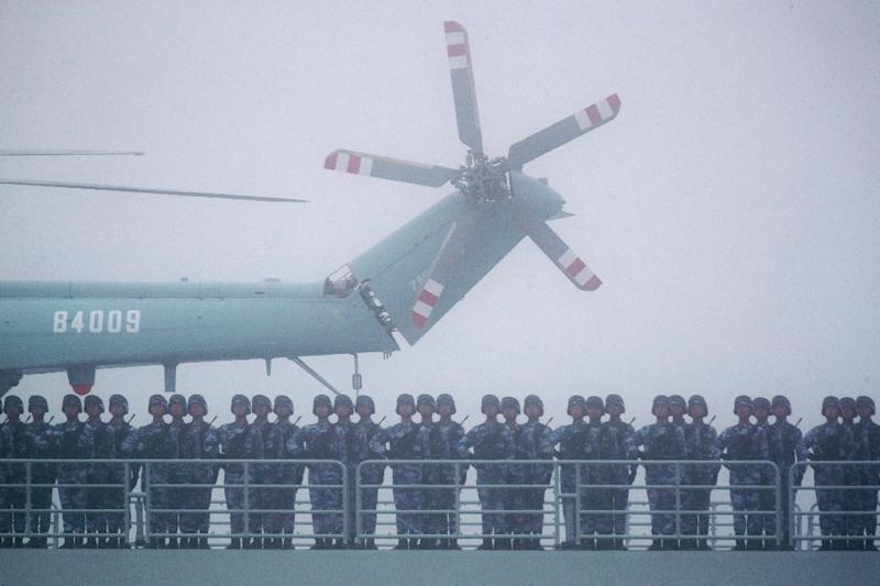 China is rapidly modernising its army, spending big on state-of-the-art weaponry (AFP Photo/Mark Schiefelbein)