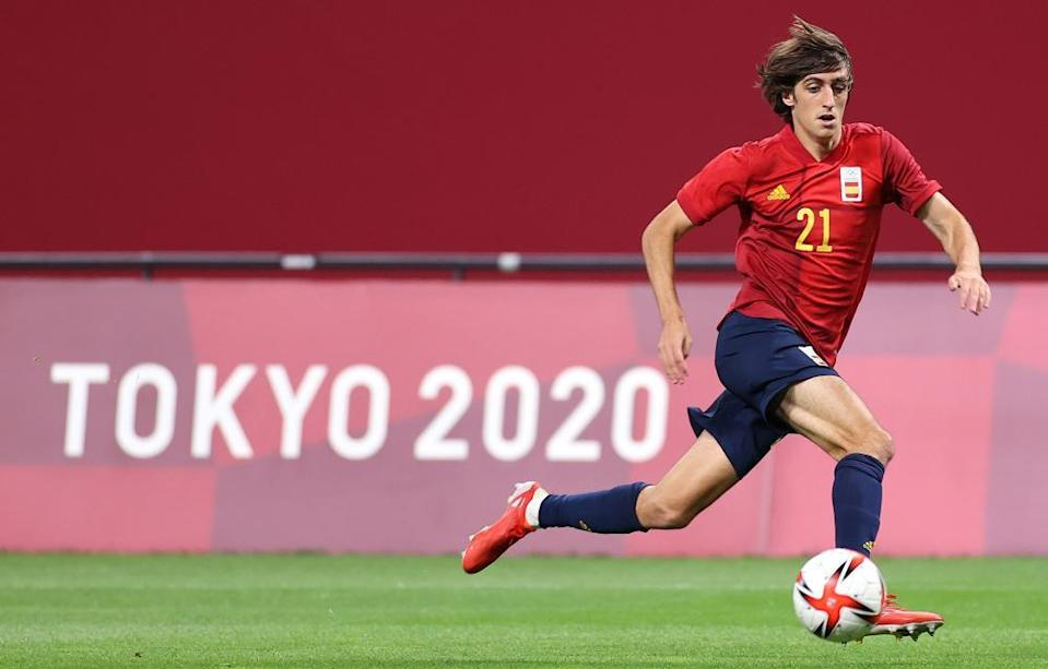Bryan Gil in action for Spain against Australia at the Tokyo Olympics on Sunday.