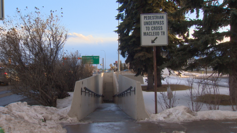 Creepy pedestrian tunnel under Macleod Trail set to close