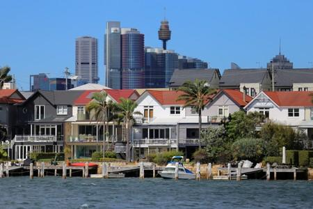 FILE PHOTO: Residential properties line the Sydney suburb of Birchgrove in Australia