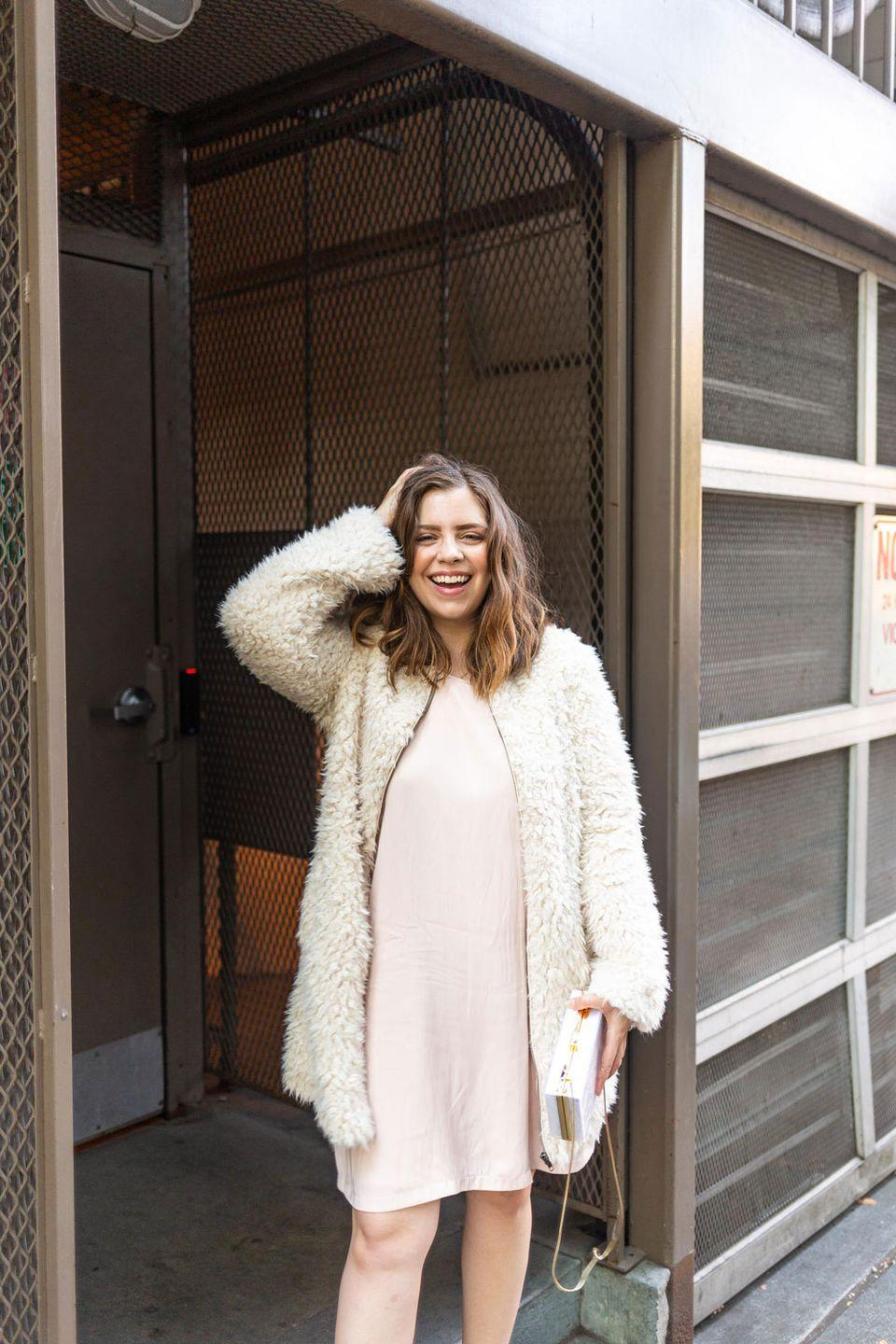 """<p>Truly, can anything match the iconic look of Carrie Bradshaw's """"naked dress,"""" the one she wore on her first date with Mr. Big? We think not. Throw a fur coat over the slip dress to make an effortless DIY Carrie.<br></p><p><em><a href=""""https://www.hellorigby.com/carrie-bradshaw-costume/"""" rel=""""nofollow noopener"""" target=""""_blank"""" data-ylk=""""slk:Get the tutorial and see more at Hello Rigby >>"""" class=""""link rapid-noclick-resp"""">Get the tutorial and see more at Hello Rigby >> </a></em></p>"""