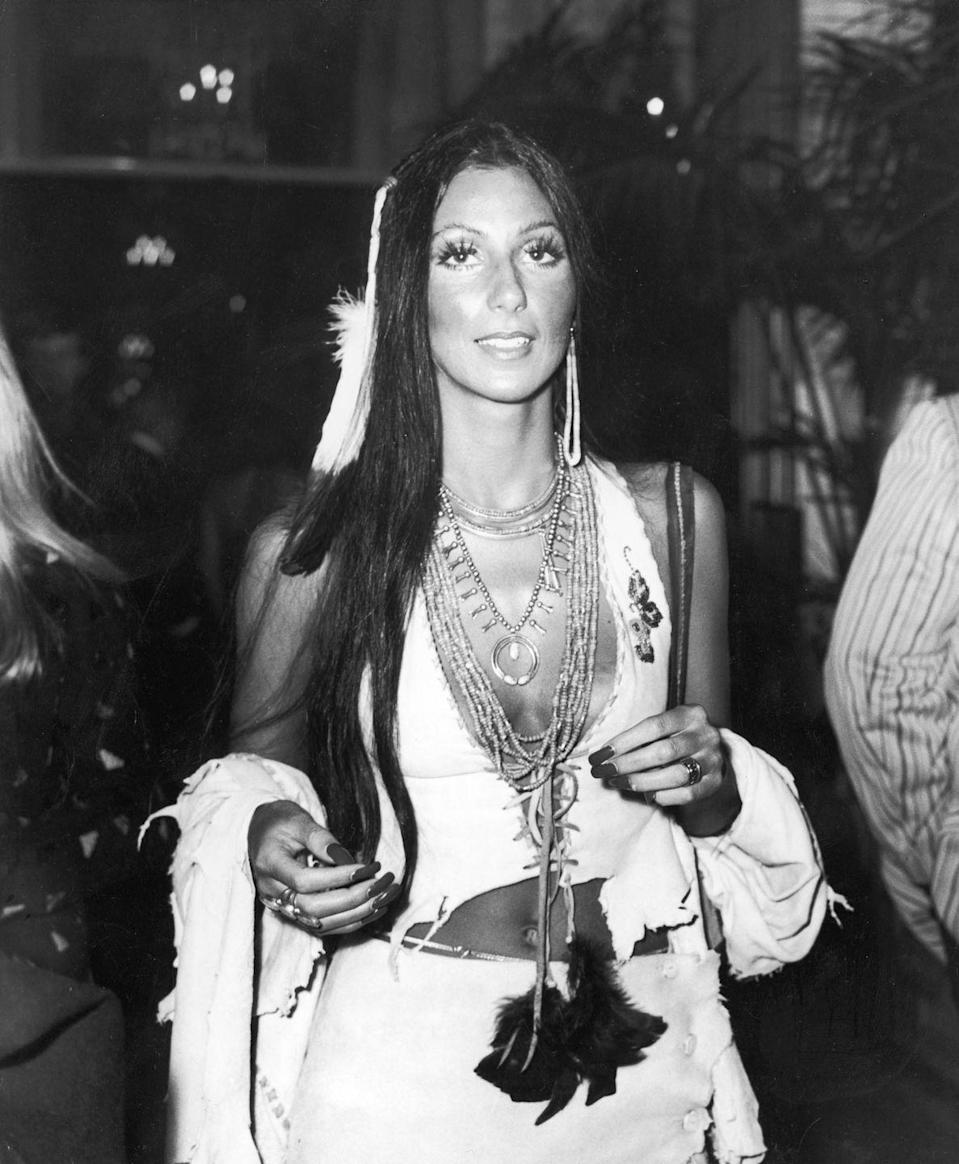 <p>Cher attends a party for the premiere of the film, 'Last Tango in Paris,' directed by Bernardo Bertolucci in 1973.</p>