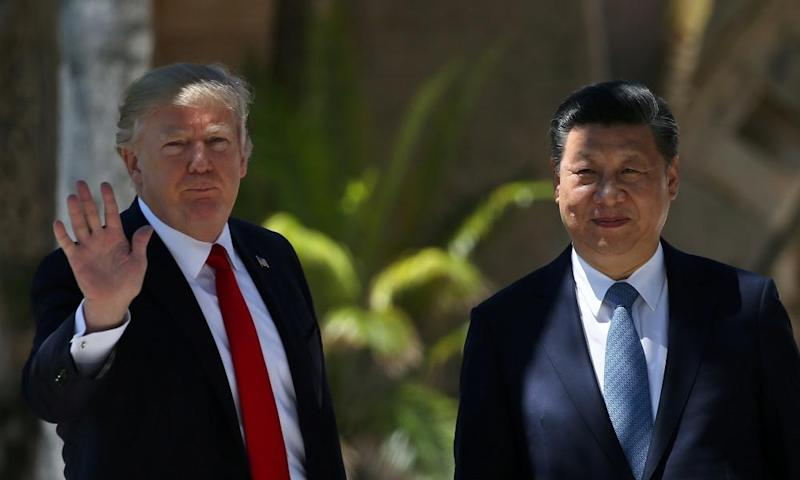 Donald Trump with China's president Xi Jinping.