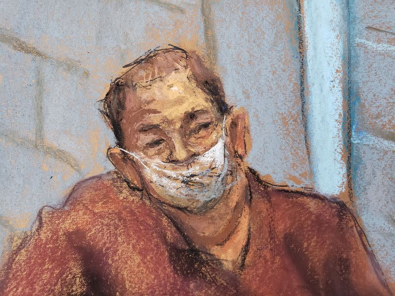 FILE PHOTO: Harvey Weinstein appears for a virtual hearing