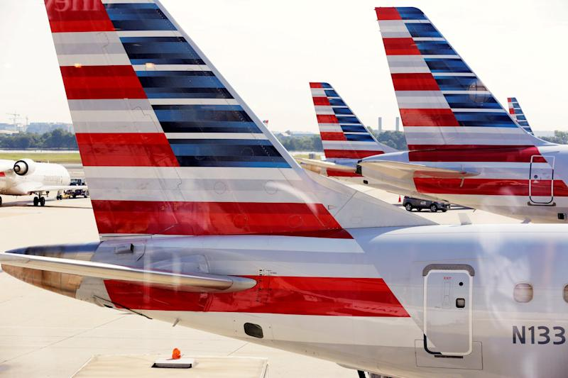 American Airlines said the disruption was not due to 'passed gas' - Credit: REUTERS/Joshua Roberts